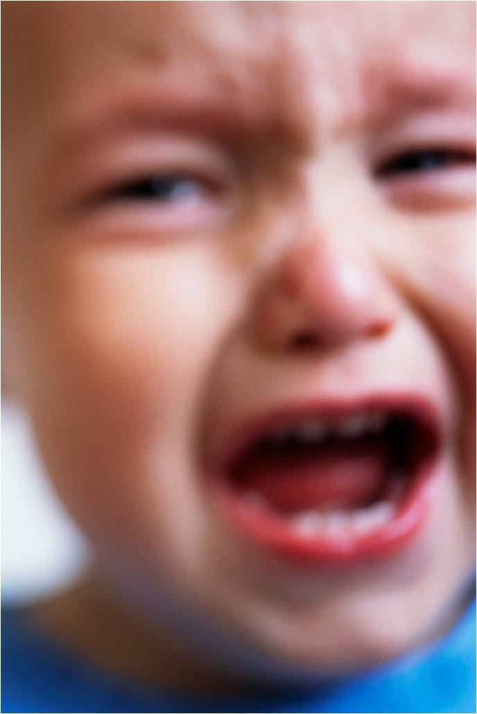 child crying face