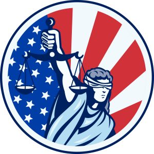 Justice Red White and Blue